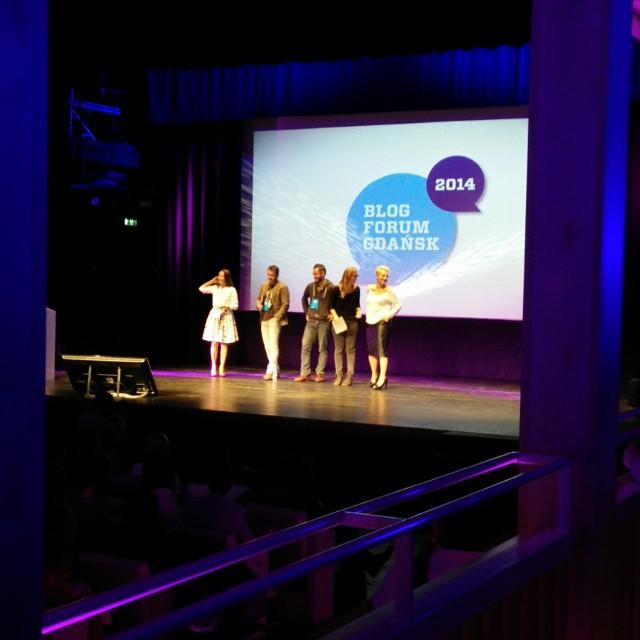 #BFGdansk trwa. Na scenie m.in.Anna Mucha, Jarosław Kuźniar, Patrycja Kosiarkiewicz. #bloggersmeeting
