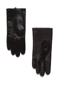 Skórzane rękawiczki Mango