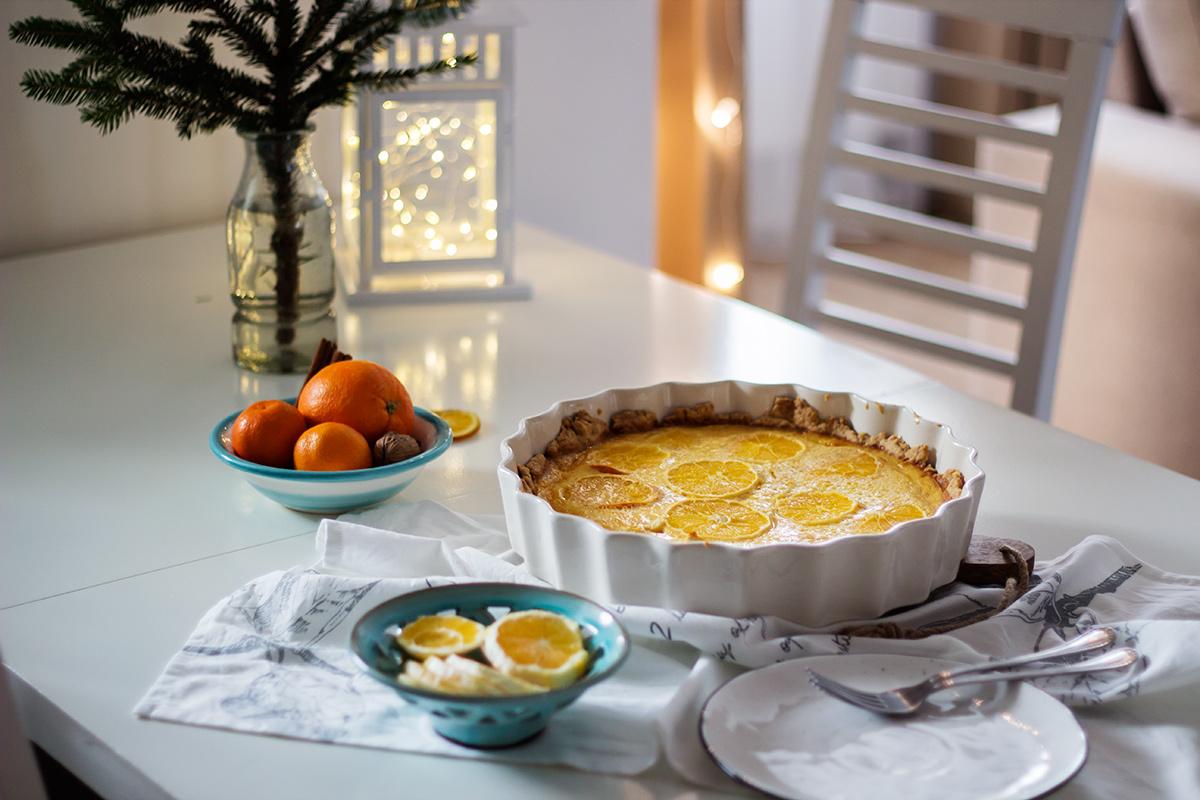 przepis na tartę pomarańczową