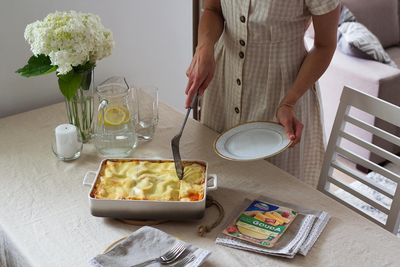 lasagne z cukinią i bakłażanem